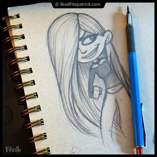 A Cartoon Girl Drawing from the Toned Sketchbook! #drawing #sketch #teen #girls #illustration #art #instaart #sketchaday #instagood