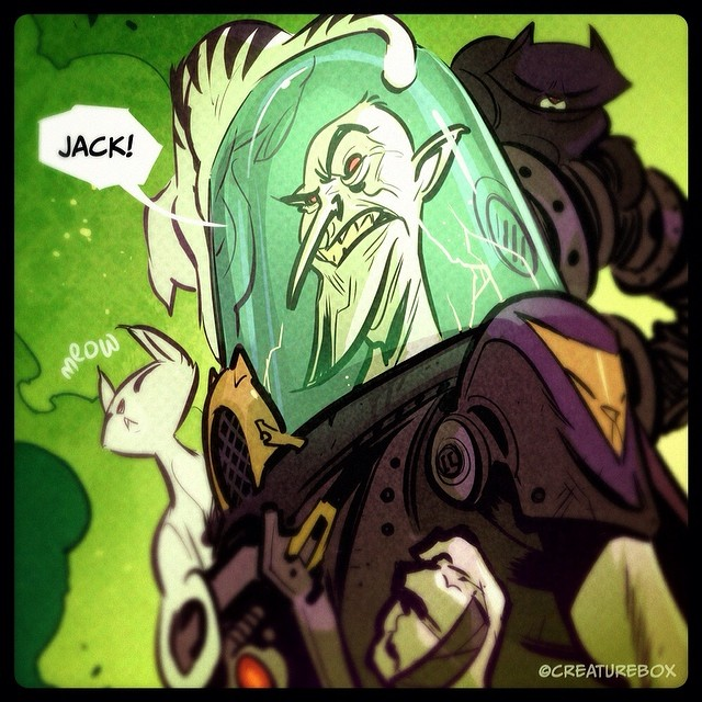 Episode 2 of Impossible Jack is now live! Super villains, cats and more! http://creaturebox.com/comic/the-volgar-twins/