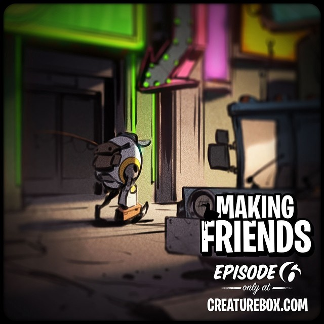 Last Episode of Making Friends is now live! Stay tuned for the launch of Impossible Jack next week. http://creaturebox.com/comic/admitting-defeat/