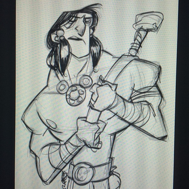 This mornings warm up #sketch #doodle #warrior #swords #sorcery #characterdesign