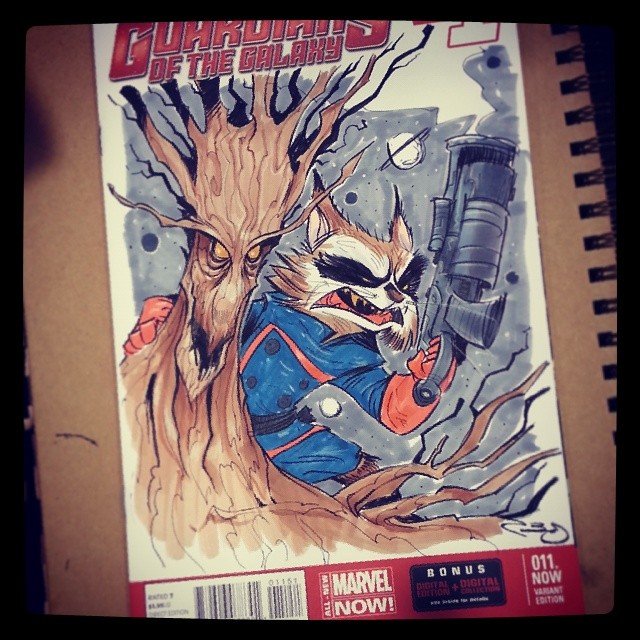 And colored #wondercon #guardians of the galaxy #2dbean commission