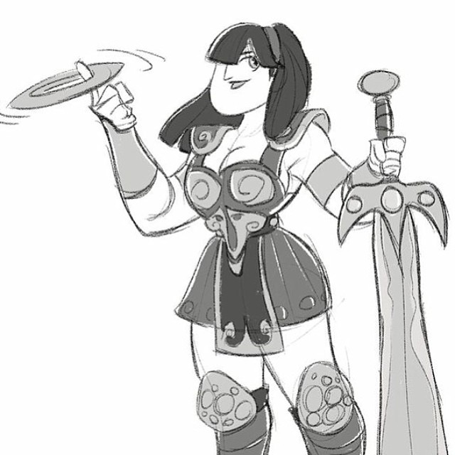 Late to the party but a super quick #xena for #sketchdailies #sketch #doodle #warriorprincess #characterdesign