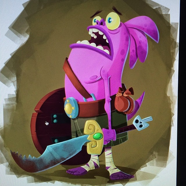 Painted this dude for my students last week. #digitalpaint #classdemo #characterdesign #monster #illustration