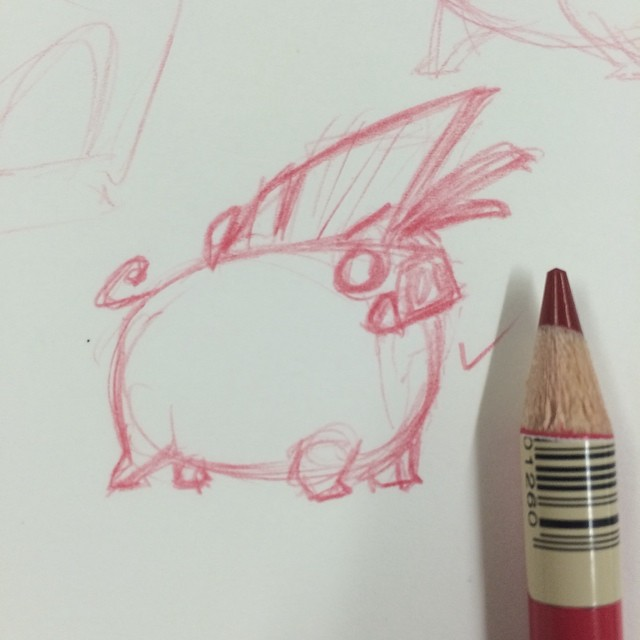 Sometimes drawing tiny helps. #tiny #drawing #sketch #doodle #art #warthog #characterdesign