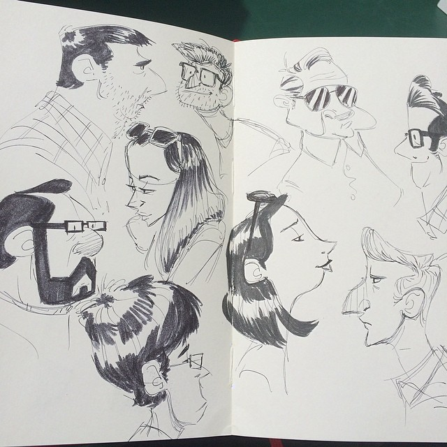 A collection of doodles #sketch #doodle #lunchbreak #characterdesign #ink