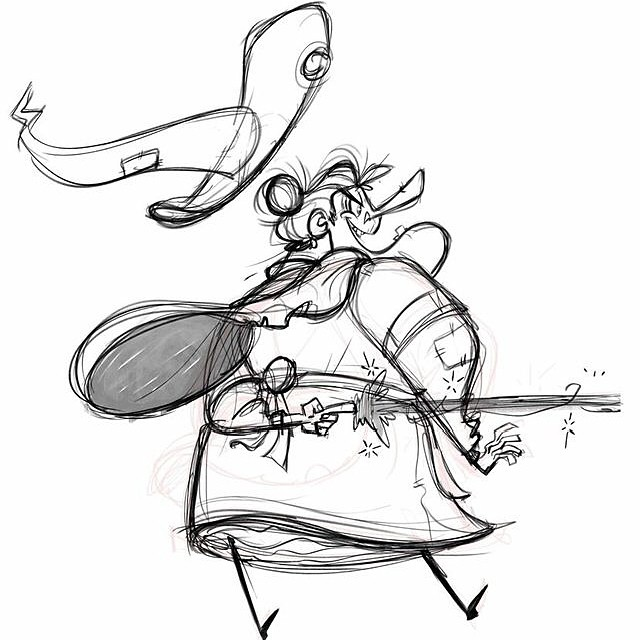 Behind the back! #sketch #doodle #witch #magic #characterdesign