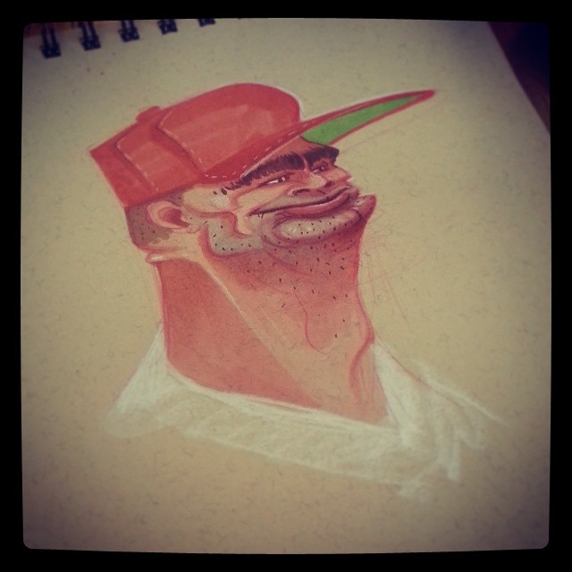 Getting in some good face time... #brettbean #2dbean #character #design #prismacolors #art