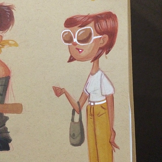 Lunch doodle from Friday #sketch #doodle #lady #shades