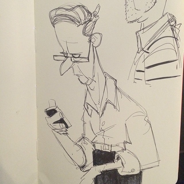 Lunch doodle from yesterday #lunch #sketch #doodle #oldman #addicted #characterdesign