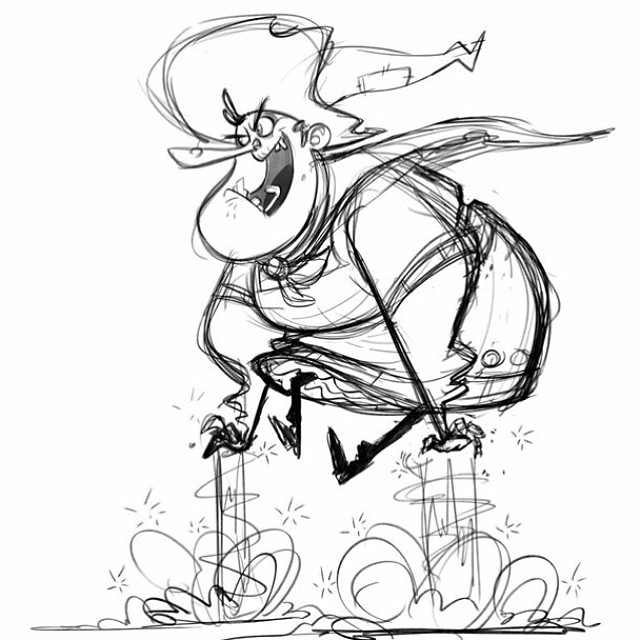Warm up witch. She don't need no broom! #sketch #doodle #characterdesign #witch #magic