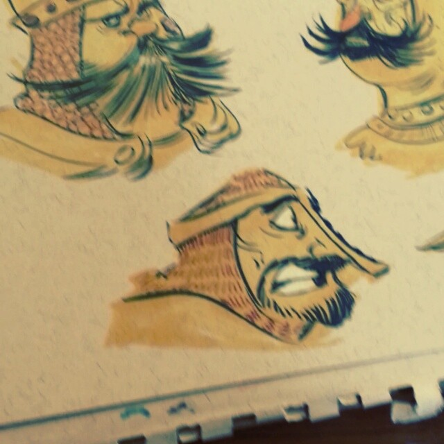 When Knight turns to day... #brettbean #2dbean #character #design #prismacolors #art