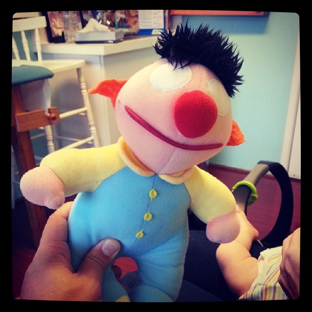 Whoa, looks like Ernie found the one ring and pulled a gollum! #nightmare #muppet