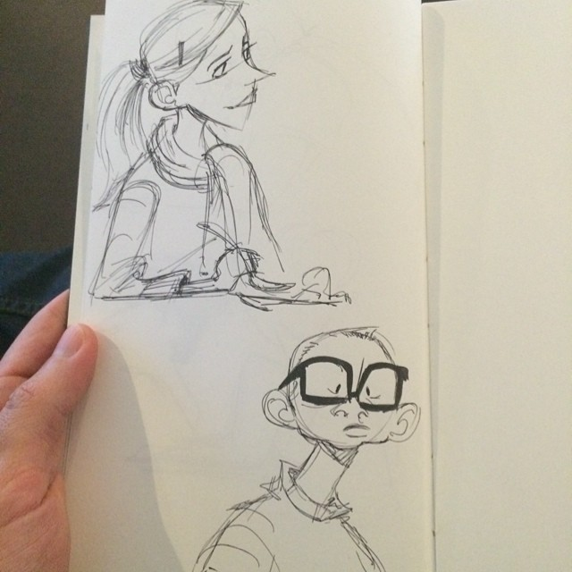 A couple of lunch doodles. #sketch #doodle #lunch #characterdesign
