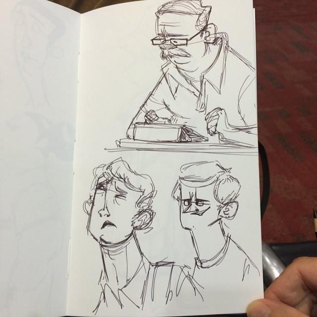 Back at the airport. Headed home #LA #doodle #sketch #characterdesign