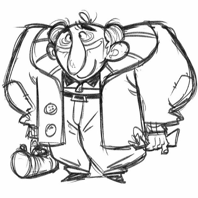 I wish I could say I saw this guy at the airport last night. #sketch #doodle #characterdesign #design #oldman #airport