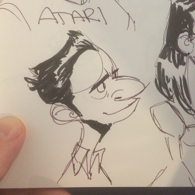 Lunch doodle plus thumb. #sketch #doodle #characterdesign #nose