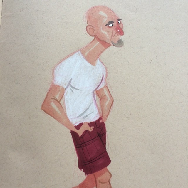 May have found a new favorite place to draw. #mainstreet #santamonica #doodle #sketch #characterdesign #copicmarkers