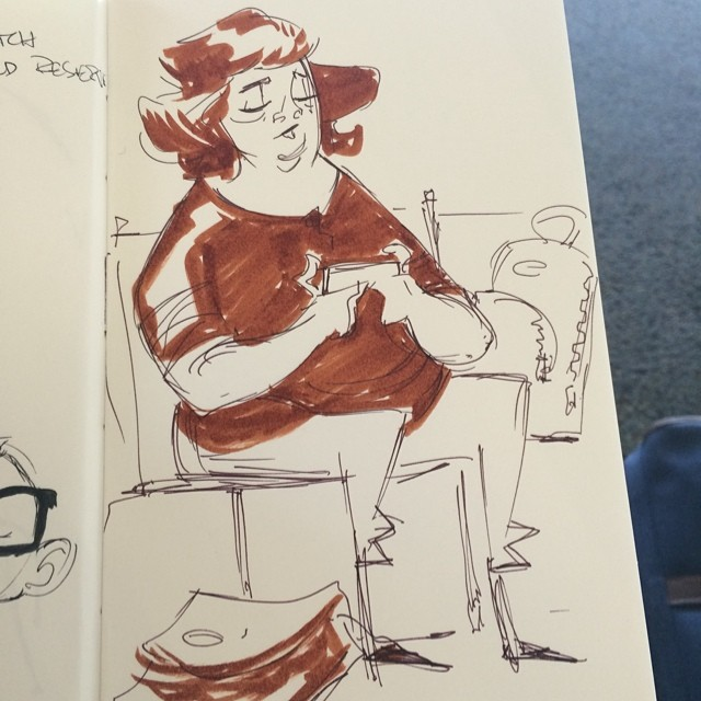 Off to Colorado for work #doodle #sketch #airport #characterdesign