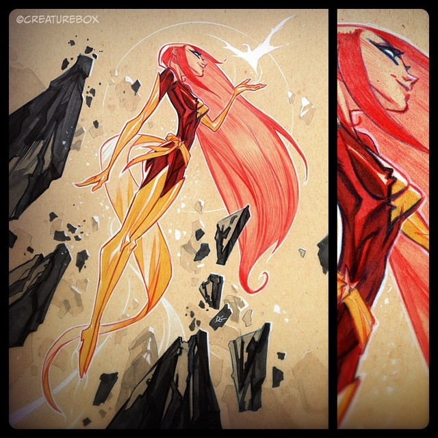 Rise of the Dark Phoenix for @heroesonline #heroescon - We'll be taking commissions at table AA-816 all weekend!