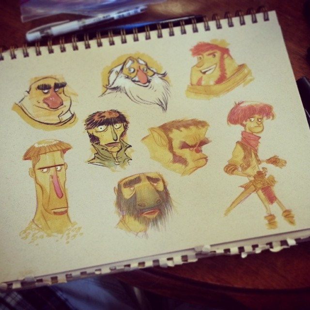 Trying a different approach to process. #brettbean #2dbean #character #design #art #prismacolors #sketch #fantasy