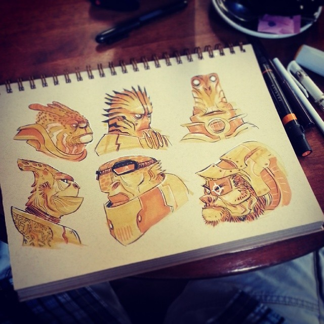 All together now #2dbean #character #design #art #sketch #fantasy #creature