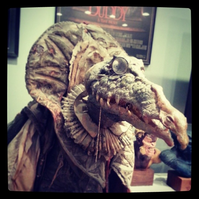 Almost forgot. Went by the Henson creature shop again and they have lots of new stuff. Could only take a pic of this guy though. Everything else is off the record and very hush, hush.... man I love working with this group. #darkcrystal #henson #puppeteer.