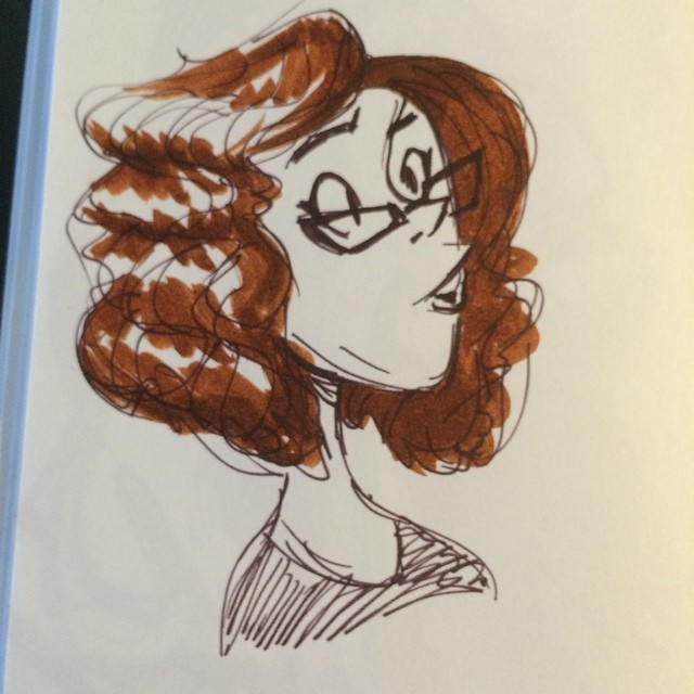 From lunch #sketch #doodle #characterdesign #curly