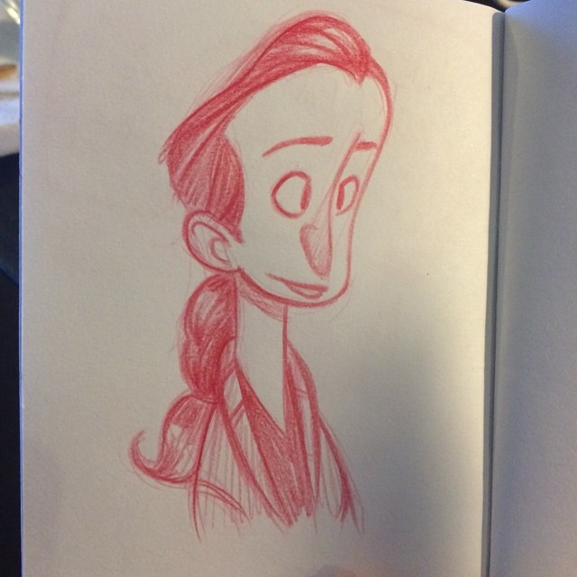 From lunch. #sketch #doodle #sketchbook #girl #characterdesign #polychromos