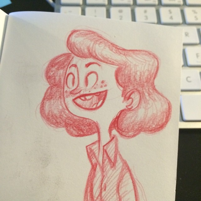 Lunch memory sketch from #holyguacamole #doodle #characterdesign #polychromos #sketch #sketchbook