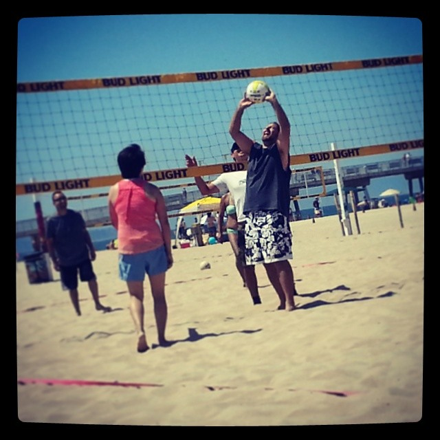Volleyball days are great.