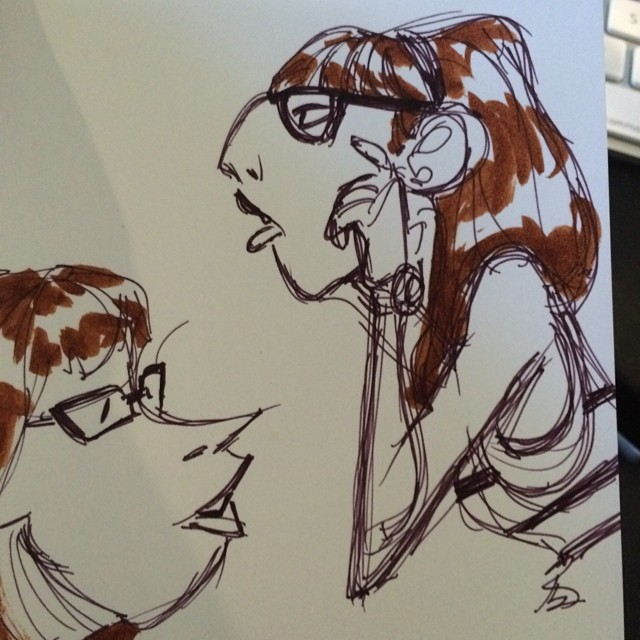 #scribbles #doodle #lunch #lady #characterdesign