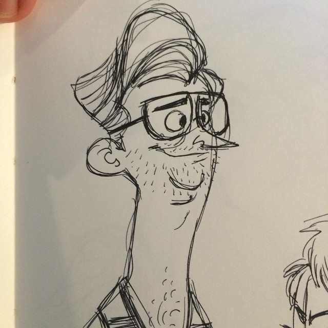 Watching project runway. Can't remember his name. #sketch #doodle #characterdesign #projectrunway