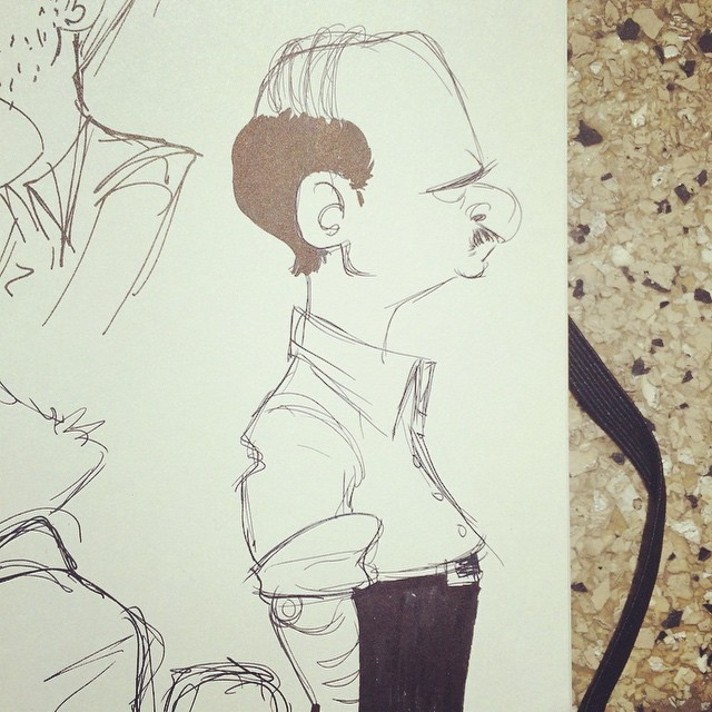 Washed out lunch sketch #sketch #doodle #characterdesign #moleskin