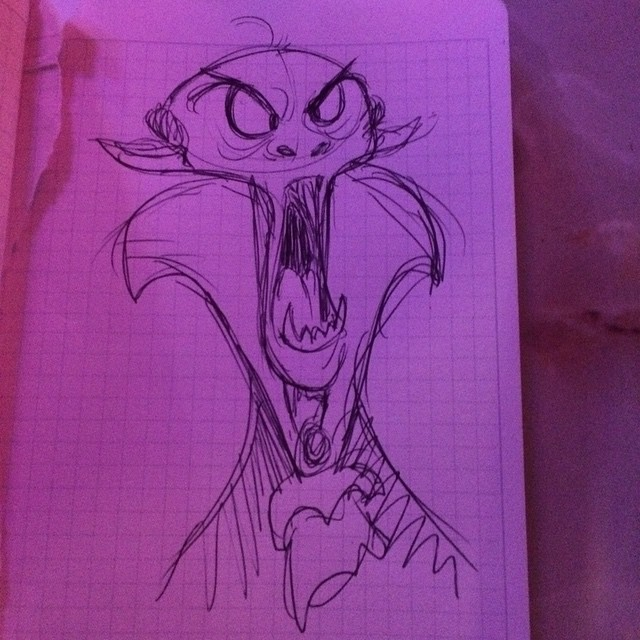 Does drawing vampires for my nephew count as #inktober ? I think so. #vampire #sketch #ballpointpen #doodle #characterdesign