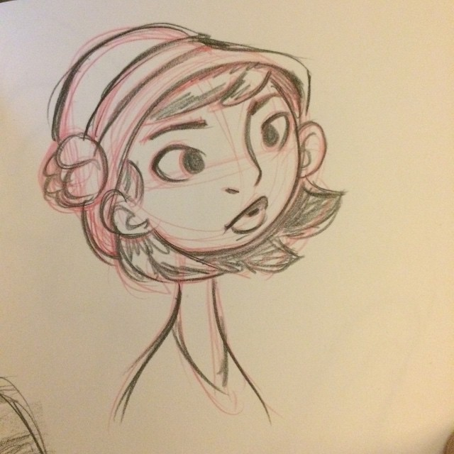 An old sketch while watching #faceoff #sketch #doodle #art #girl