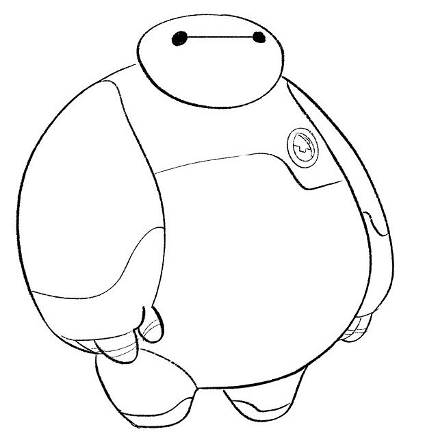I loved how simple yet effective his design was. #baymax #bighero6 #bh6 #doodle #sketch #warmup #fanart