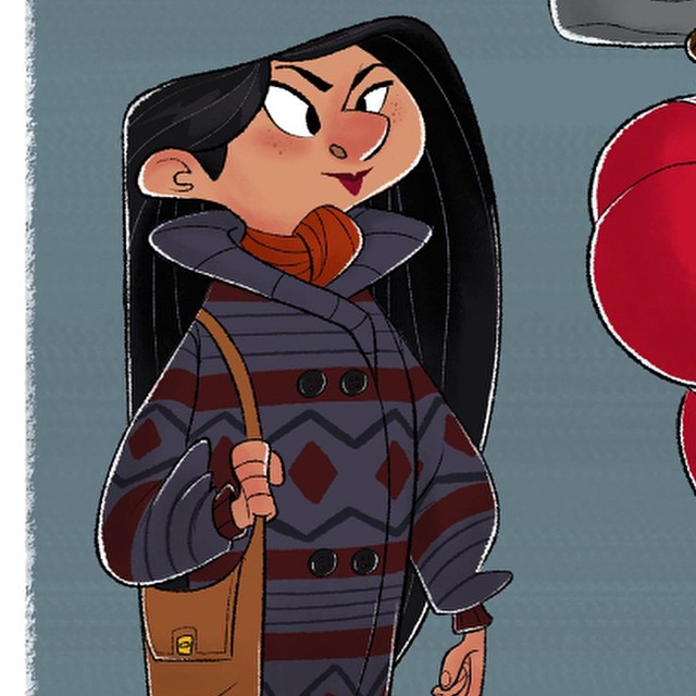Tease of a print I'll have available at #ctnx14. Fall in Los Angeles. #LA #sketch #doodle #characterdesign #autumn