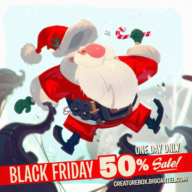 We're running a one day only Black Friday sale! 50% off at http://creaturebox.bigcartel.com !