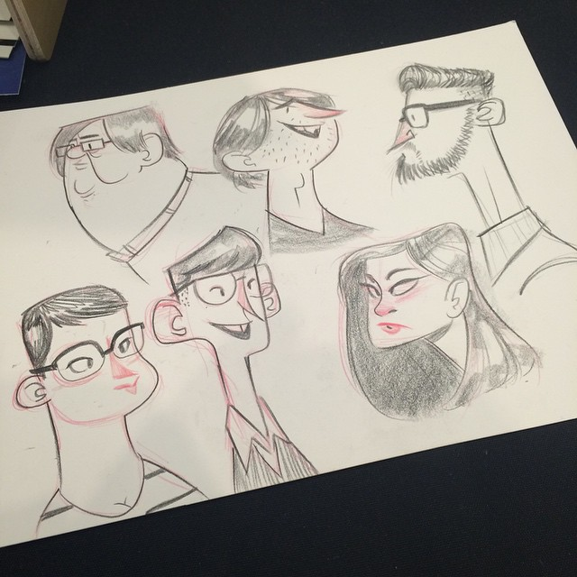 #ctnx14 people who walked by. #sketch #doodle #characterdesign