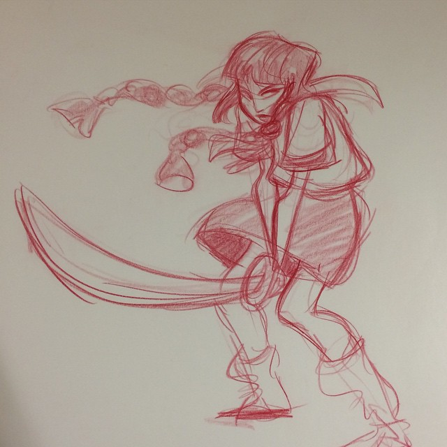 From a model session a few weeks back #sketch #doodle #characterdesign #gesturedrawing #lifedrawing