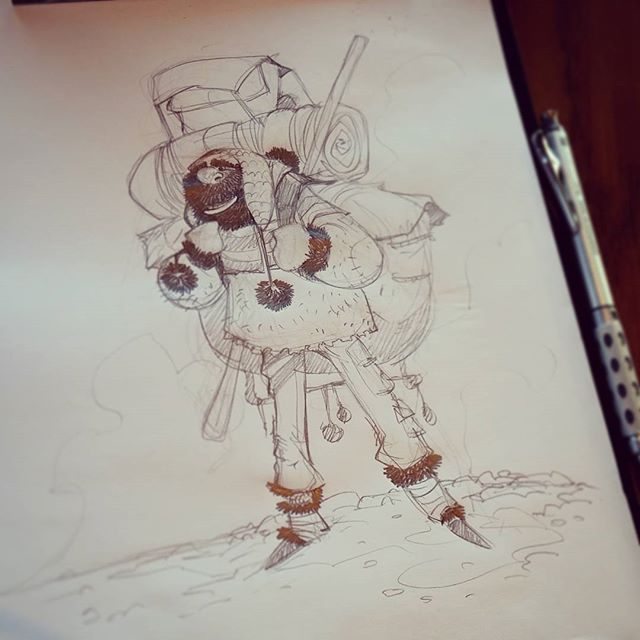 Cold morning... #2dbean #art #character #design #brettbean #sketch #drawing