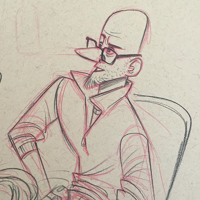 Cafe sketch from a couple of weeks ago #sketch #doodle #characterdesign #bar #lifedrawing #drawing