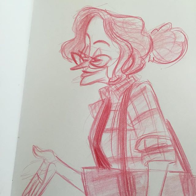 Lunch doodle from the other day #sketch #doodle #characterdesign