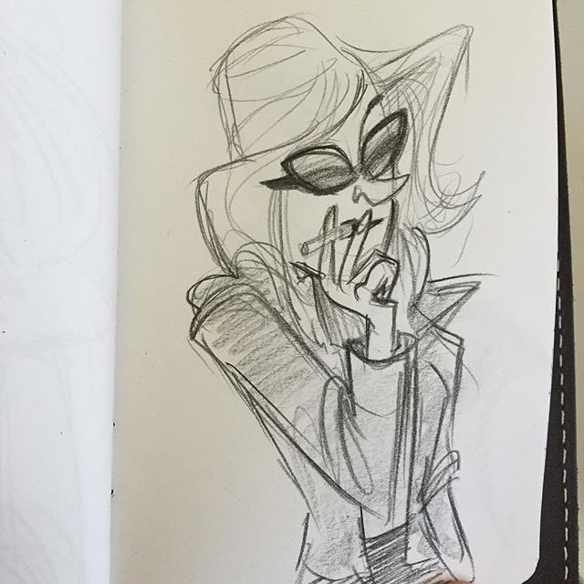 Too cool for school #sketch #doodle #characterdesign