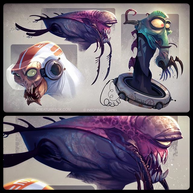 When Aliens Attack! Flashback to alien designs for Ratchet & Clank Nexus. #monster #alien #ratchetandclank