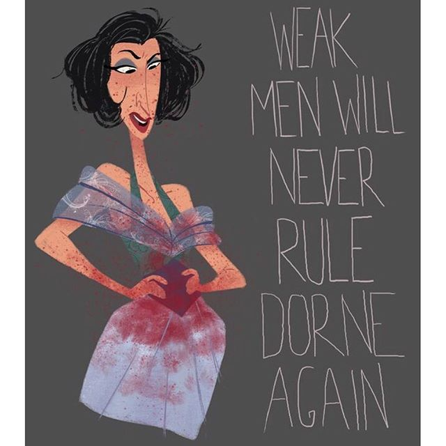 A little GOT fan art. #sketch #doodle #gameofthrones #characterdesign #dorne