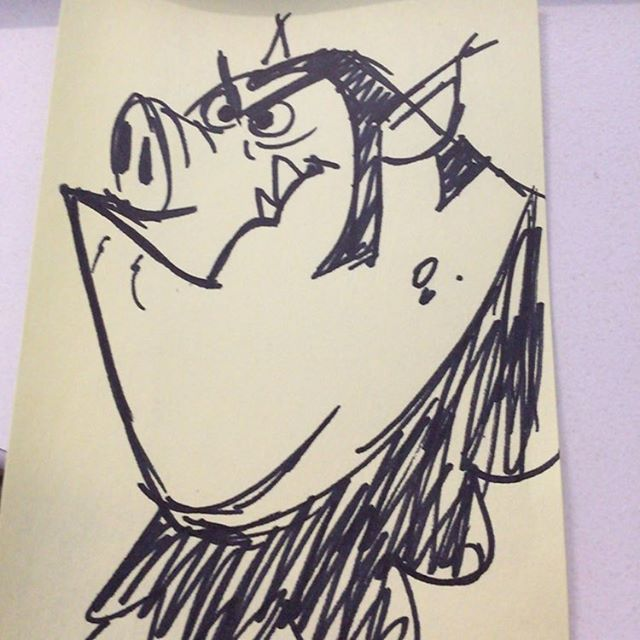 Another #sketch #doodle #postit #characterdesign #pig