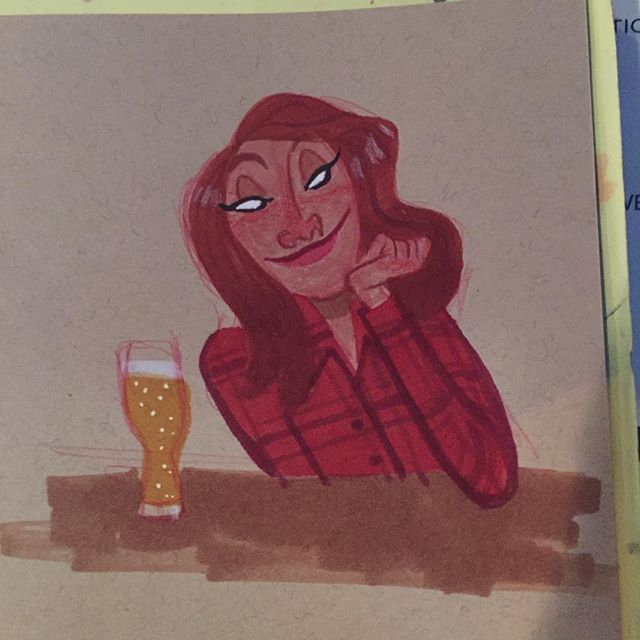 Doodle and a beer #sketch #doodle #characterdesign #copicmarkers