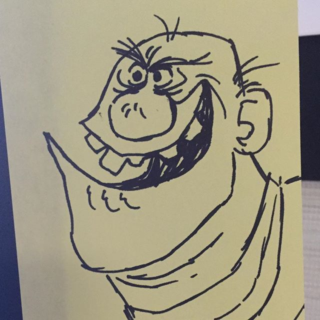 Sharpies and post its!!! #paradeofthehorribles #sketch #doodle #characterdesign