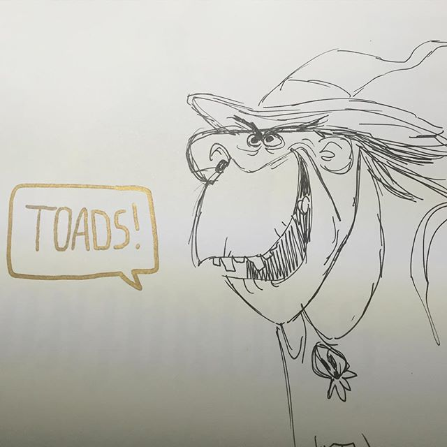 Shipped out a copy of #conjurings this morning. #witch #toads #characterdesign #sketch #doodle